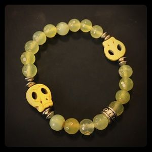 Jewelry - ADD ME FREE Yellow Skull Chavez 4 Charity Bracelet